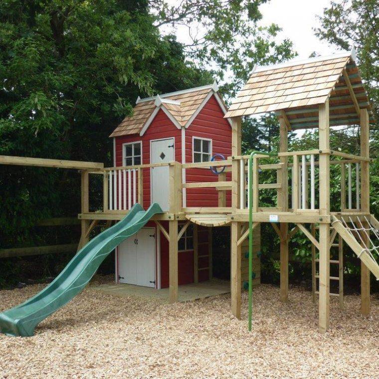 Damson Mega Combo playhouse climbing frame