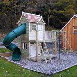 Damson Mega Turbo Playhouse Climbing Frame
