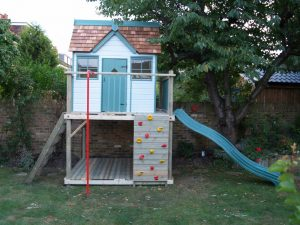 Otter Cottage Playhouse Climbing Frame