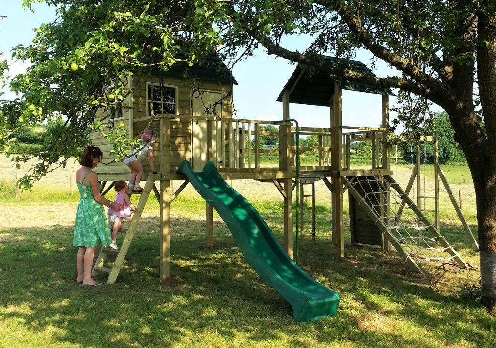 Forest Combo Playhouse Climbing Frame