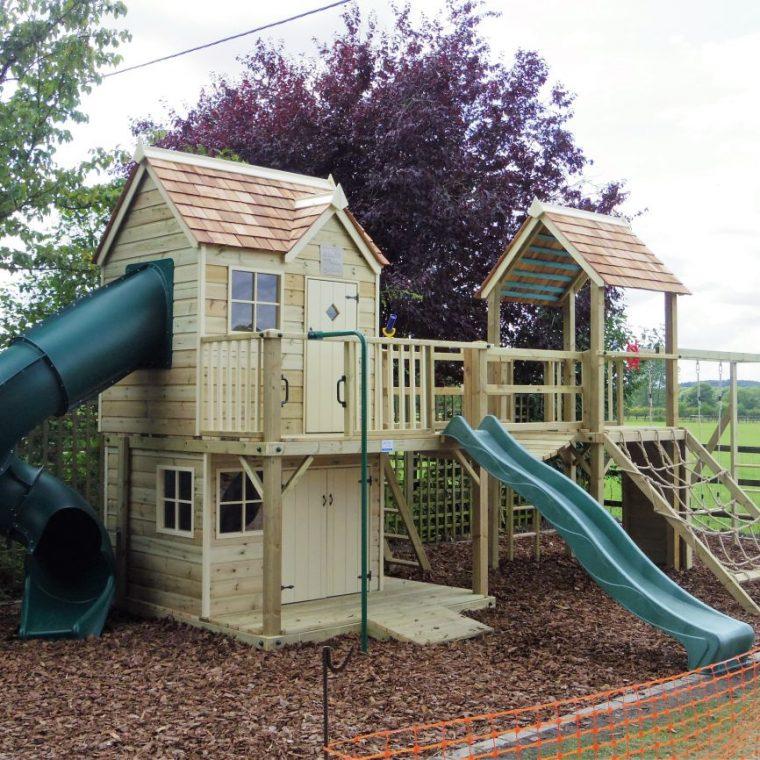 climbing frame playhouse