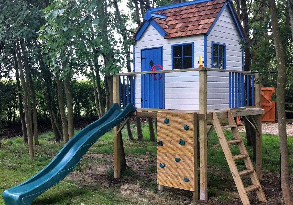 Damson Cottage Playhouse Climbing Frame
