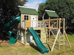 Wooden garden climbing frame