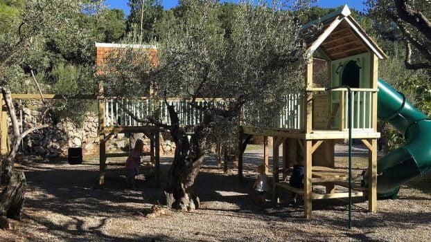 Majorca climbing frame playhouse