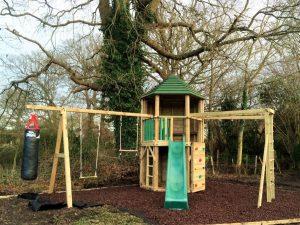 Hex tower climbing frame
