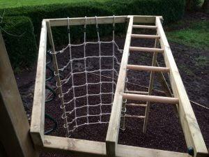 Hex tower climbing frame scramble net