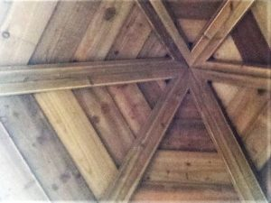 Hex tower cliimbing frame roof