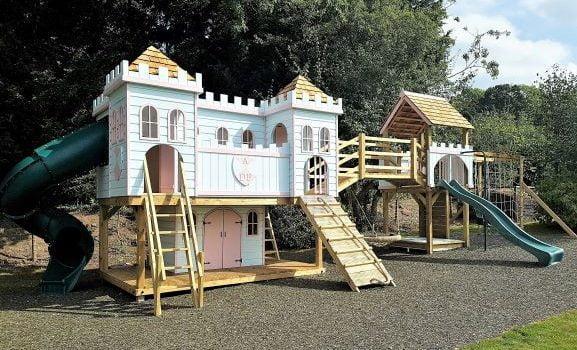 castle playhouse climbing frame