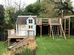 Playhouse with stables