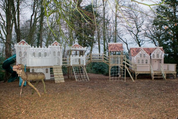 A custom wooden playcentre in Cheshire