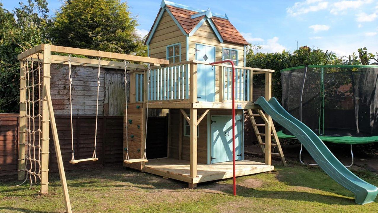 Damson Mega Playhouse Climbing Frame