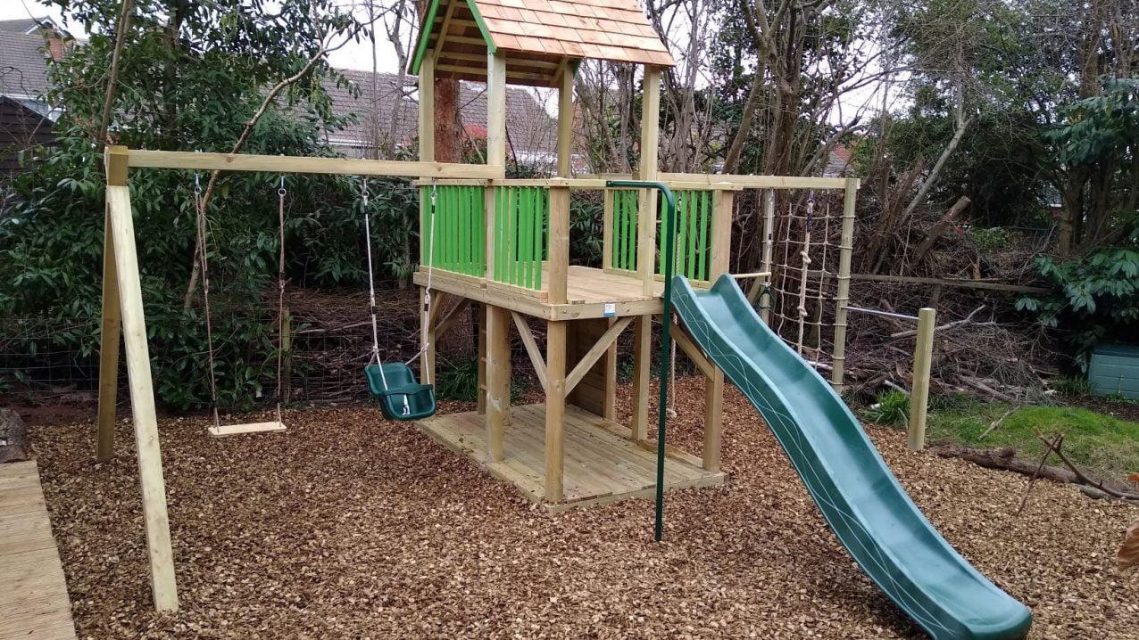 Treetops Mega climbing frame